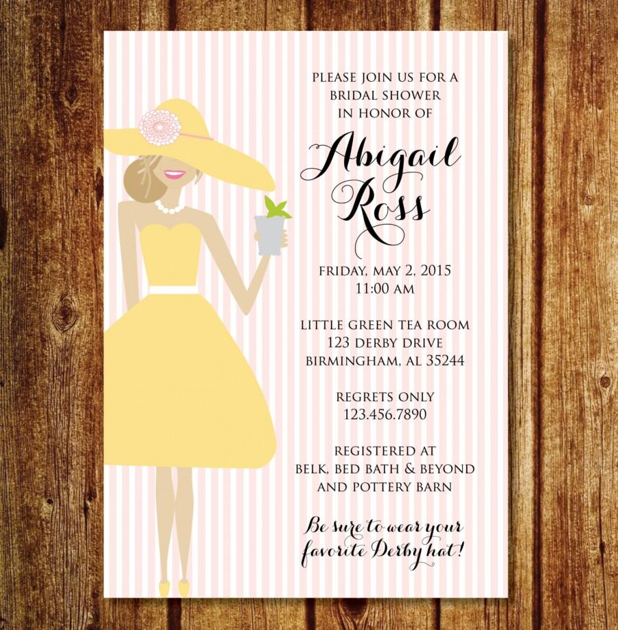 Derby bridal shower invitation kentucky derby hat bridal shower derby bridal shower invitation kentucky derby hat bridal shower invitation filmwisefo