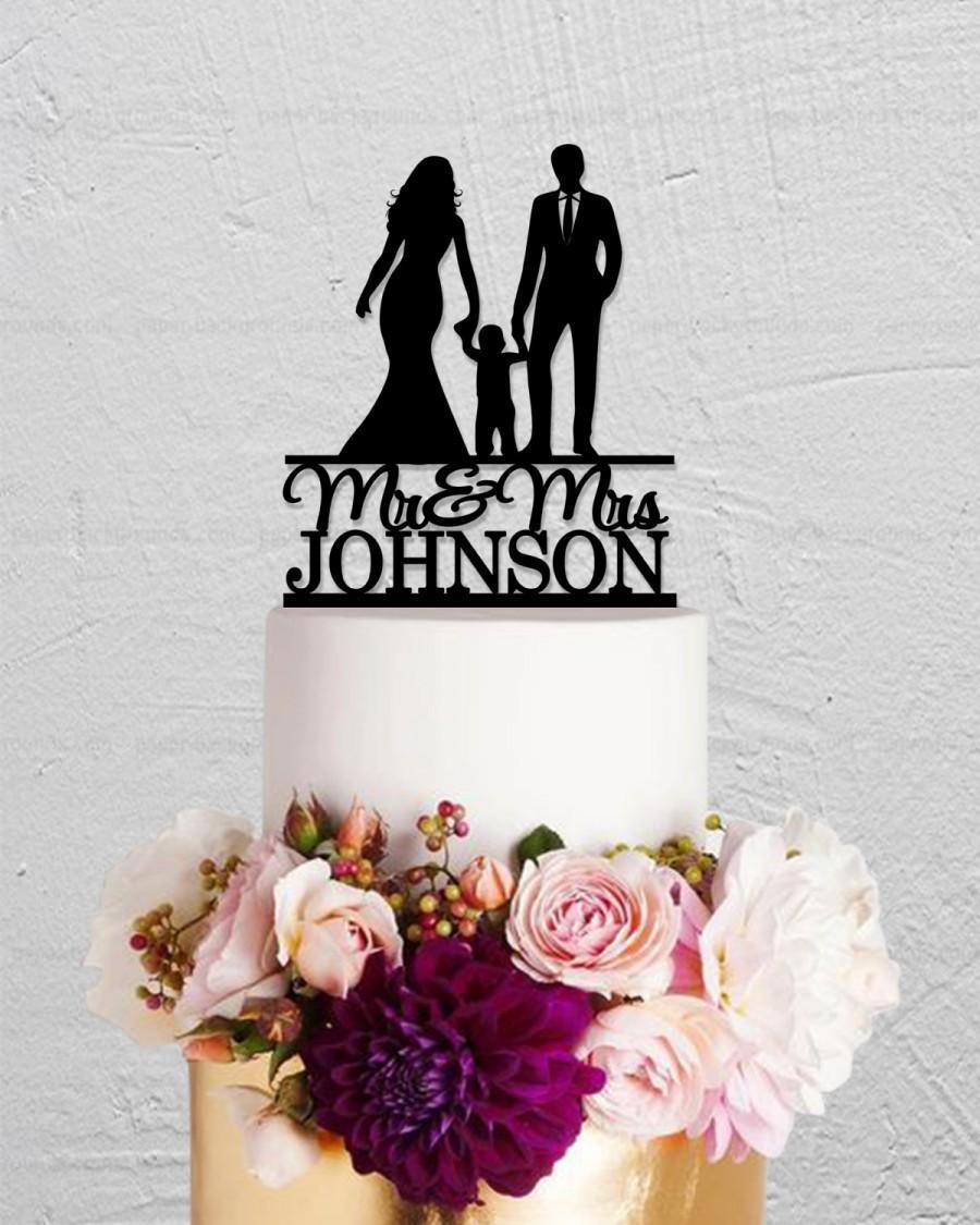 Wedding - Wedding Cake Topper,Bride And Groom Cake Topper,Family Cake Topper with Child,Custom Cake Topper,Couple Cake Topper,Mr And Mrs Cake Topper