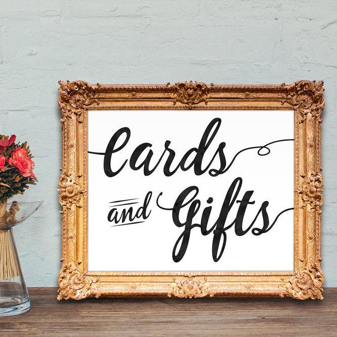 Свадьба - Cards and Gifts wedding sign - PRINTABLE - 8x10 - 5x7