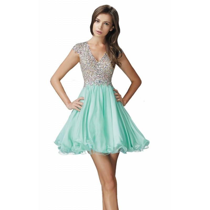 Düğün - Mint Beaded Open Back Dress by Elizabeth K - Color Your Classy Wardrobe