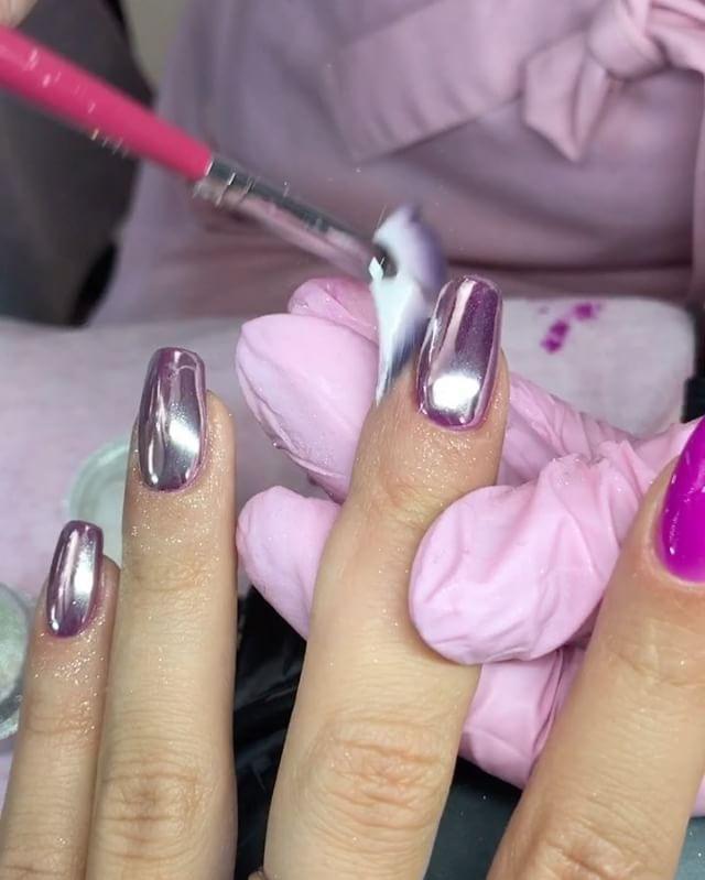 Свадьба - Metallic Nail Art