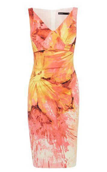 زفاف - Painterly Splash Floral Print Dress