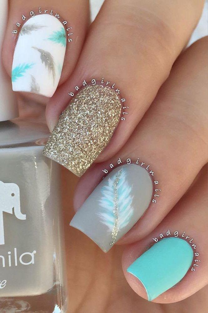 زفاف - Feather Nail