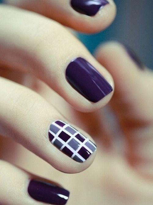 زفاف - Navy Geometric Nails