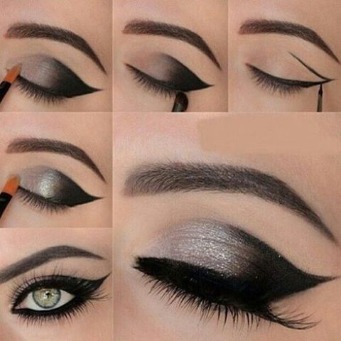 "Свадьба - @make_upinspirations On Instagram: "" #makeup #makeupartis #makeuptutorial #makeupartist #silvermakeup #blacksilver #eyesmakeup #eyes #eyeshadow #longlashes #lashes #eyebrows…"""