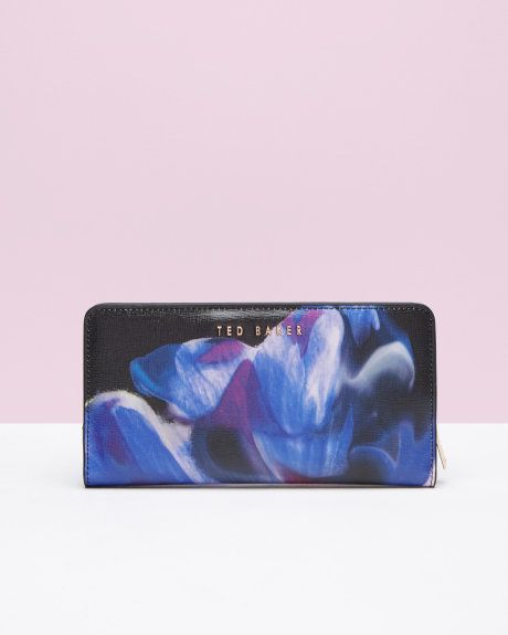 Hochzeit - Cosmic Bloom Leather Matinee Purse - Black
