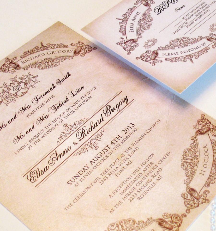 Fairytale Wedding Invitations - Elegant Wedding Invitations Sample ...