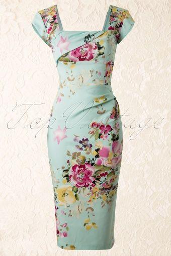 Mariage - Cara Dress In The Mint Seville Floral Print