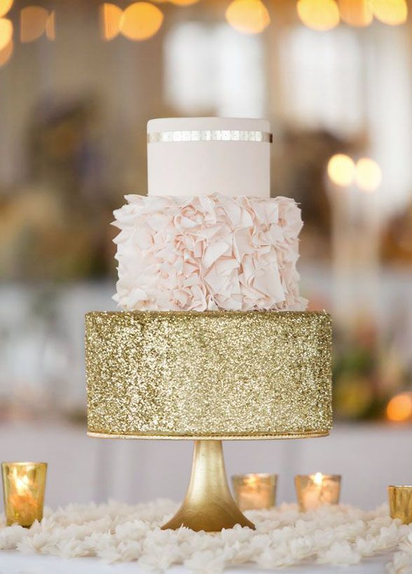 Sparkly Wedding Cake Toppers