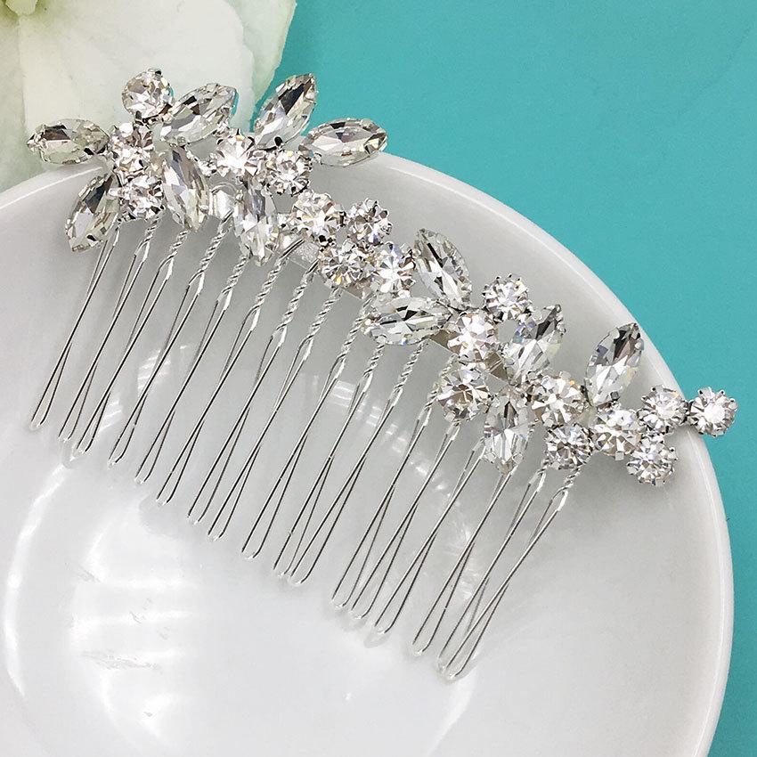 Hochzeit - Bridal Rhinestone Crystal Comb, Bridal Comb Crystal, Wedding Crystal Hair Comb, Hair Comb, Wedding Accessory, 477541118
