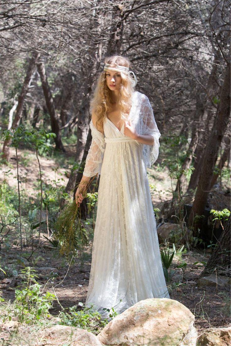 Vintage Bohemian Boho Wedding Dress Sexy Lace Wedding Gown Plus Size