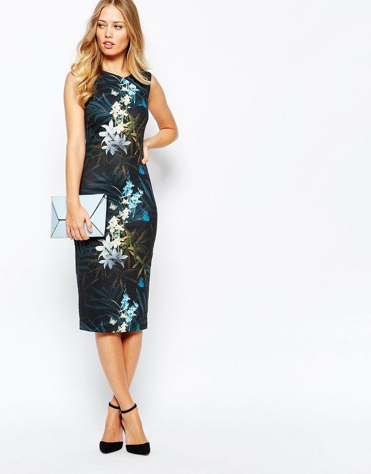 ae96b16b585d94 Ted Baker Loua Twilight Floral Fitted Dress At Asos.com  2715799 ...