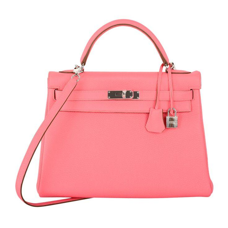 Wedding - HERMES KELLY BAG 32cm ROSE LIPSTICK PINK TOGO W PALLADIUM