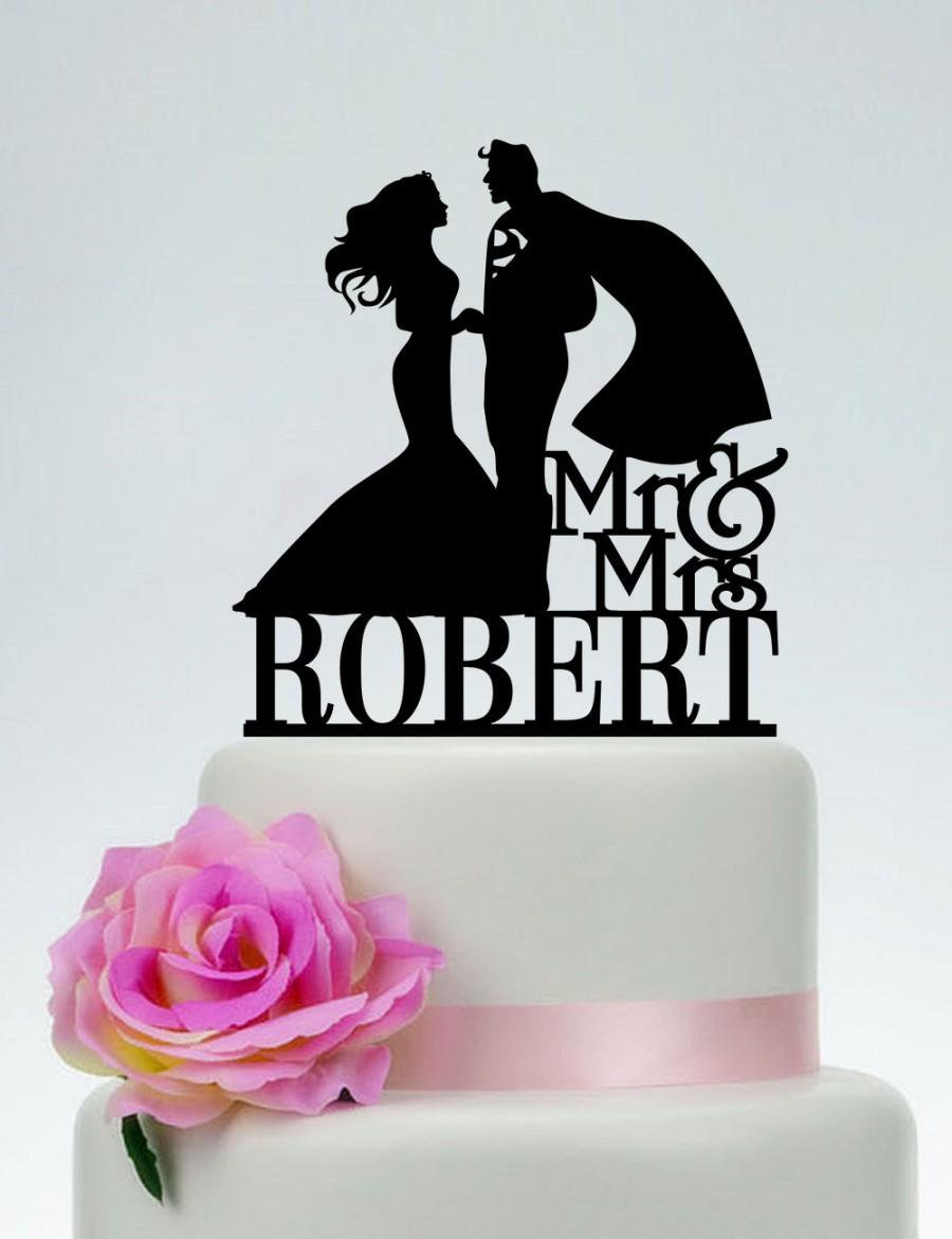 Etsy Superman Cake Topper