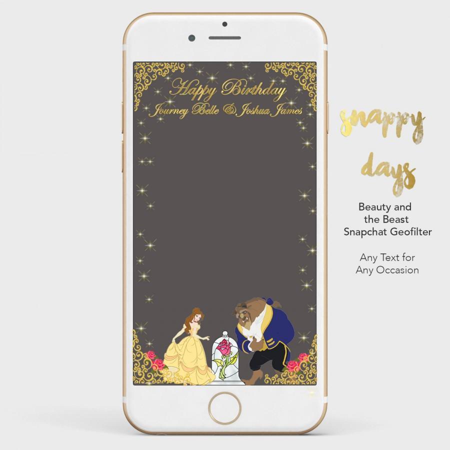Hochzeit - SNAPCHAT Disney Princess Beauty & the Beast Geofilter