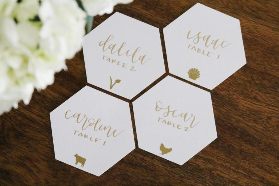 Wedding - set of 20 meal choice icon decals