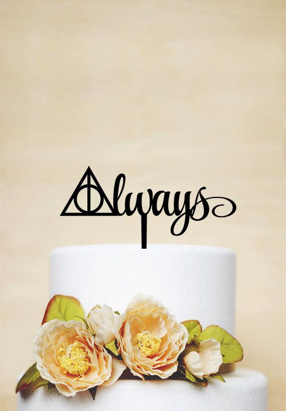 Mariage - Harry Potter Cake Topper,Wedding Cake Topper,Always Cake Topper,Wedding Decoration,Love Cake Topper - P174