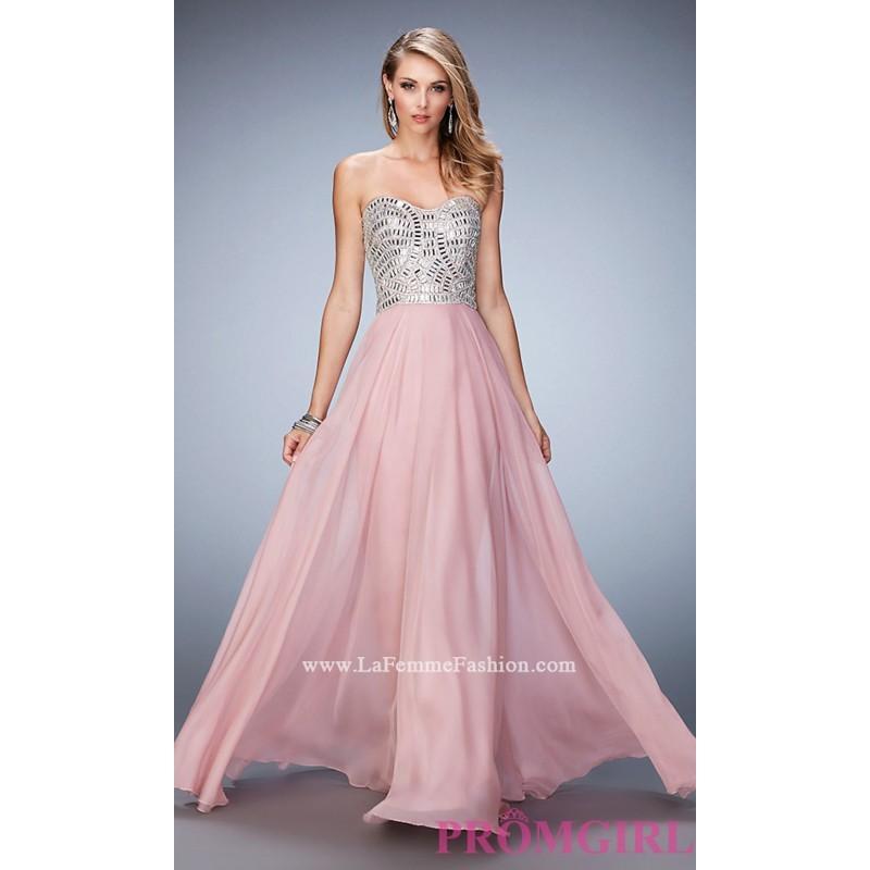 la femme short strapless prom dress