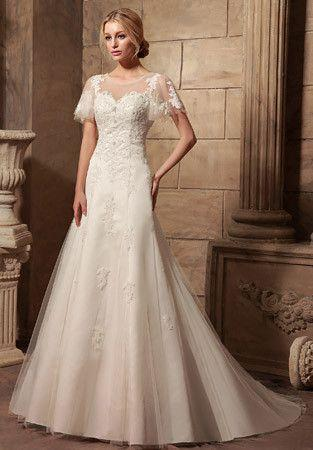 Vintage Style Modest Lace Wedding Dress With Erfly Sleeves