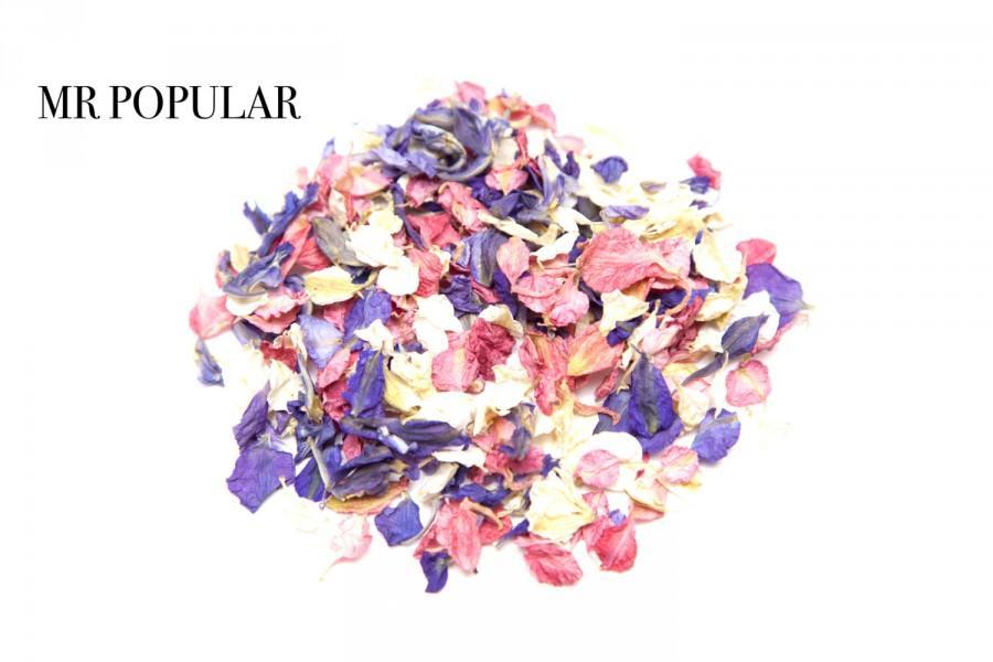 Свадьба - Mixed natural biodegradable delphinium confetti petals 1 litre (Mr Popular)