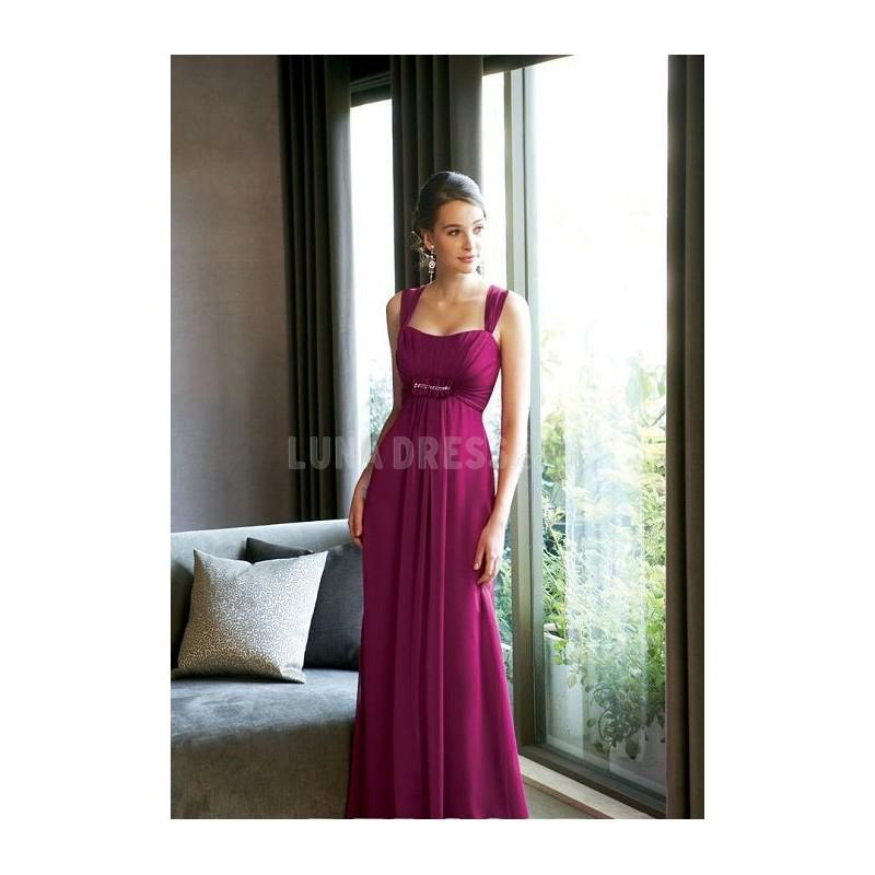 Wedding - Elaborate A line Sleeveless Straps Chiffon Bridesmaid Dress - Compelling Wedding Dresses
