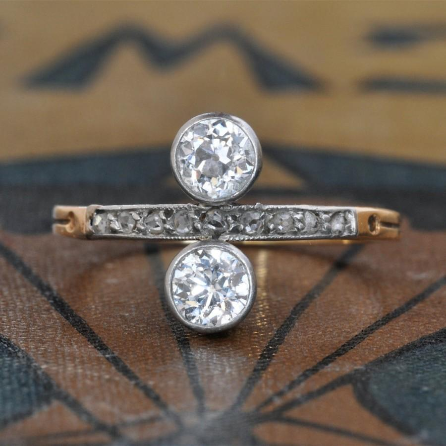زفاف - Edwardian Engagement Ring-Art Deco Engagement Ring-Unique Engagement Ring-1920s Engagement Ring-Deco Engagement Ring-Antique Diamond Ring