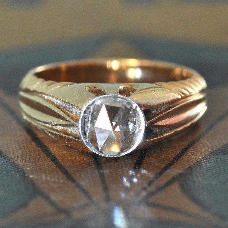1800s Engagement RingArt Nouveau Engagement RingUnique Engagement