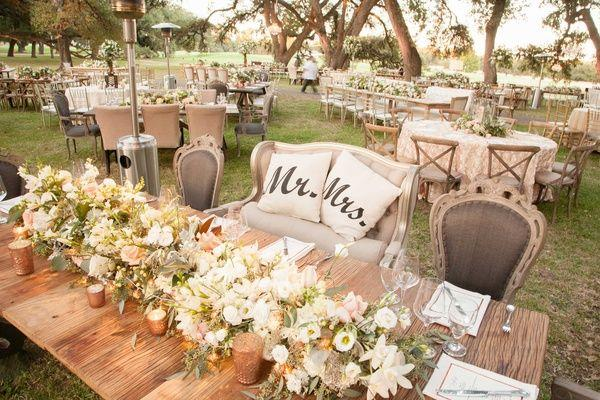 زفاف - Glamorous Outdoor Wedding With Rustic & Rose Gold Details In Texas