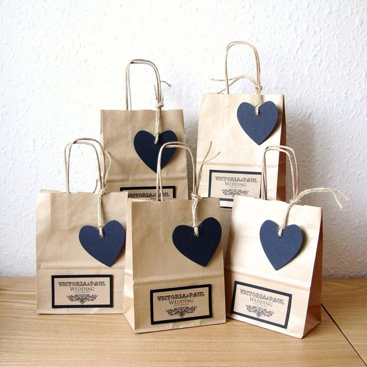 Wedding - Items Similar To Wedding Favour Bags, SMALL With Black Heart Tag On Etsy