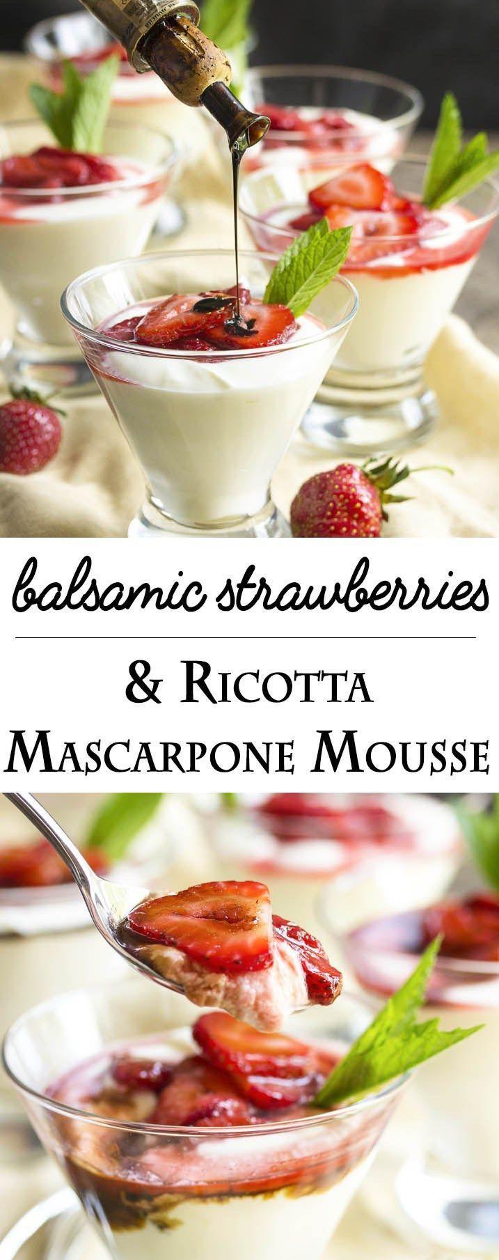 Wedding - Balsamic Strawberry Mascarpone Mousse