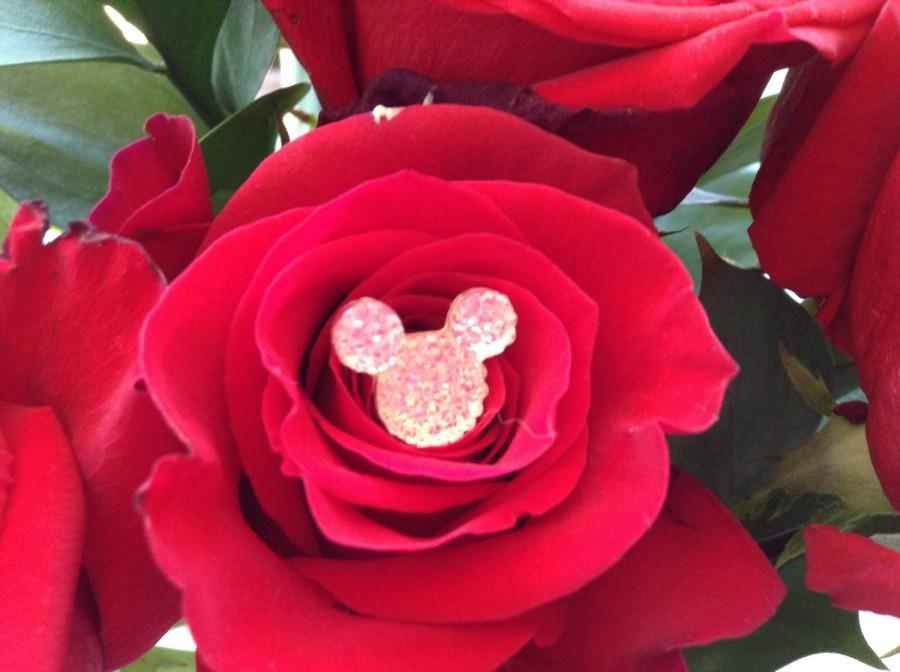 Свадьба - Disney Wedding Hidden Mickey Mouse Ears Flower Pins BLING BOUQUET for Brides and Bridesmaids