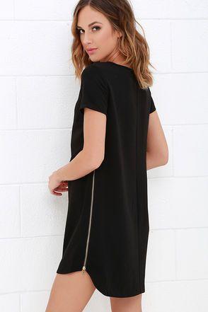 Mariage - New Era Black Shift Dress