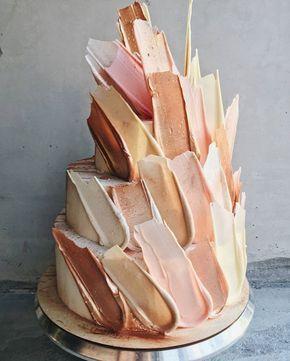 زفاف - Brush Stroke Cake
