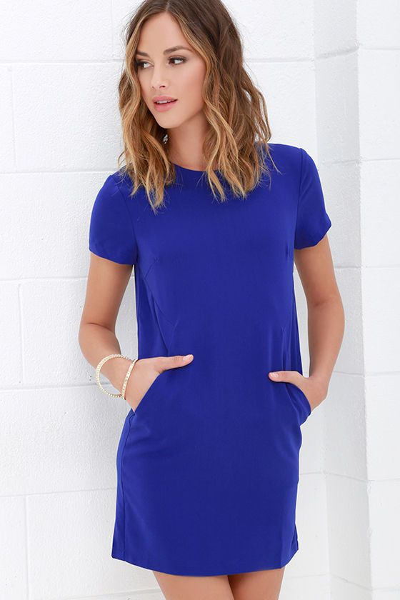 new product new lower prices diversified latest designs Dress - Have A Good One Royal Blue Shift Dress #2717012 ...