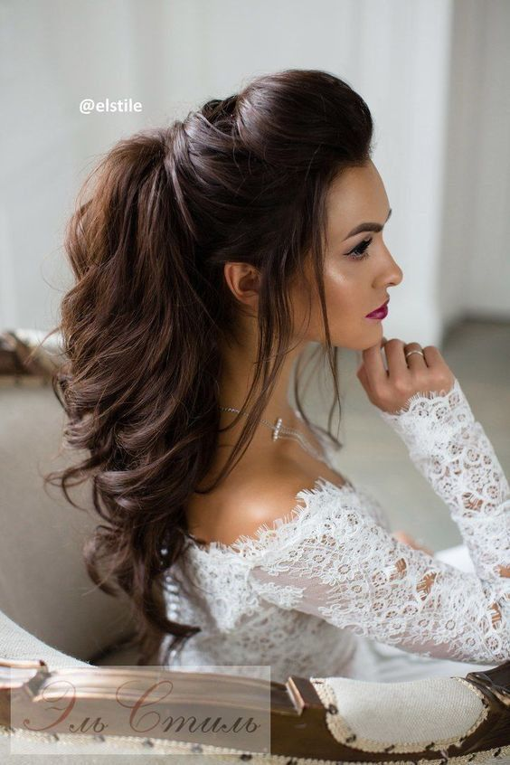 Hair Pretty Wedding Hairstyles For Long Hair 2717067 Weddbook