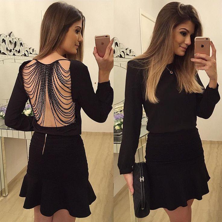 "Mariage - Blog Trend Alert On Instagram: ""{All Black} De @murauplanteamor ❤️ Preciso Falar O Tanto Que Amei Essa Blusa?  Costas Mais Linda Ever!  • #lookdanoite #lookofthenight…"""