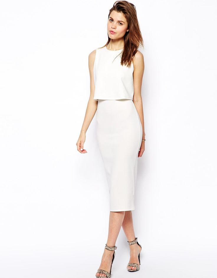 Mariage - Double Layer Crop Top Midi