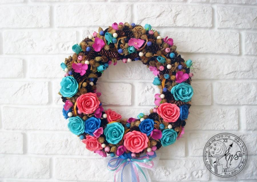 Düğün - Wreath - Wreaths for front door - Wreaths outdoor - Outdoor decorations - Wall wreath - Home decor