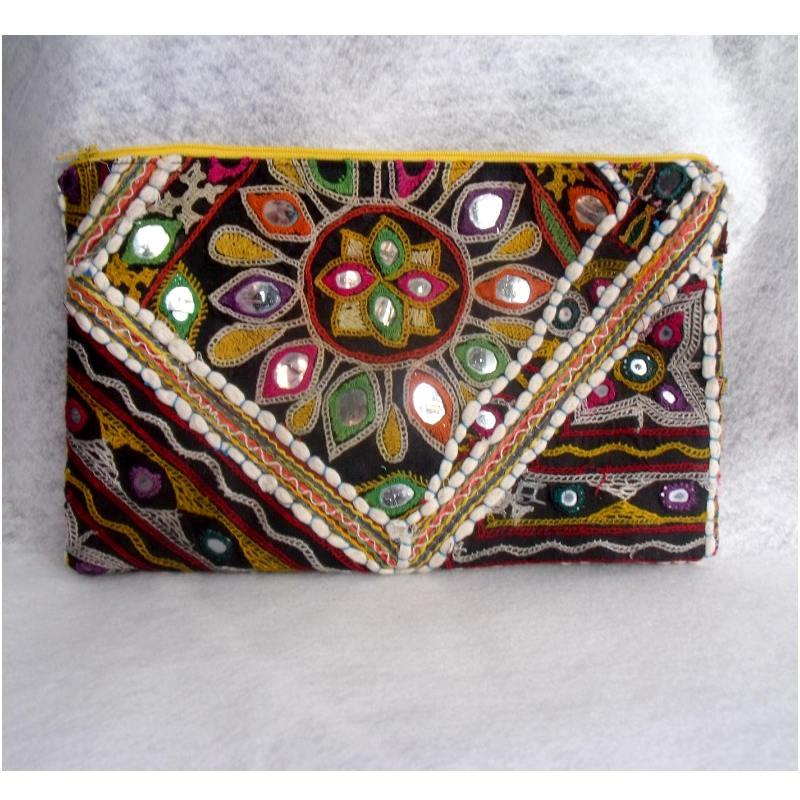 Boda - Trendy Clutch, Boho Clutch Purse, Gift For Her, Tribal Ethnic Embroidery Clutch, Boho Wallet, Womens Gift, Bohemian Clutch, Unique Gift