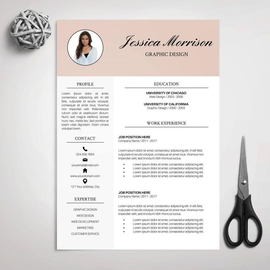 Wedding - Resume Template, CV Template for MS Word, Cover Letter, Professional Resume, Modern Resume, Creative Resume, Instant Download