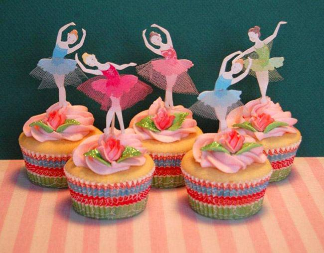 Düğün - BAllet birthday party cupcake kit, cupcake toppers, BAllet tutu, ballet party, cupcake cases, cupcake liners, cupcake kit, baking supplies