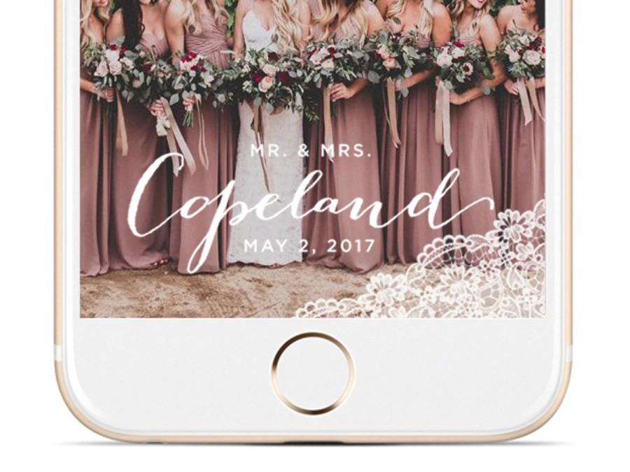 Mr and Mrs Wedding Snapchat Filter