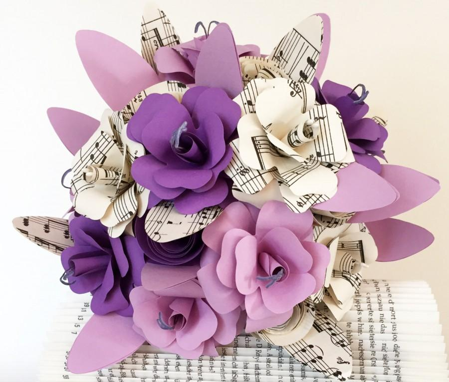 Свадьба - Paper bouquet / wedding bouquet / registry / birthday / paper / book pages / paper rose / rose / Upcycling / bouquet