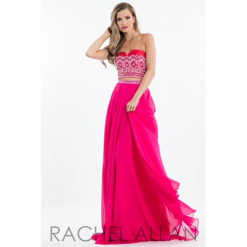 Hochzeit - Rachel Allan Princess 2099 Red/Fuchsia,Royal,White/Aqua Dress - The Unique Prom Store