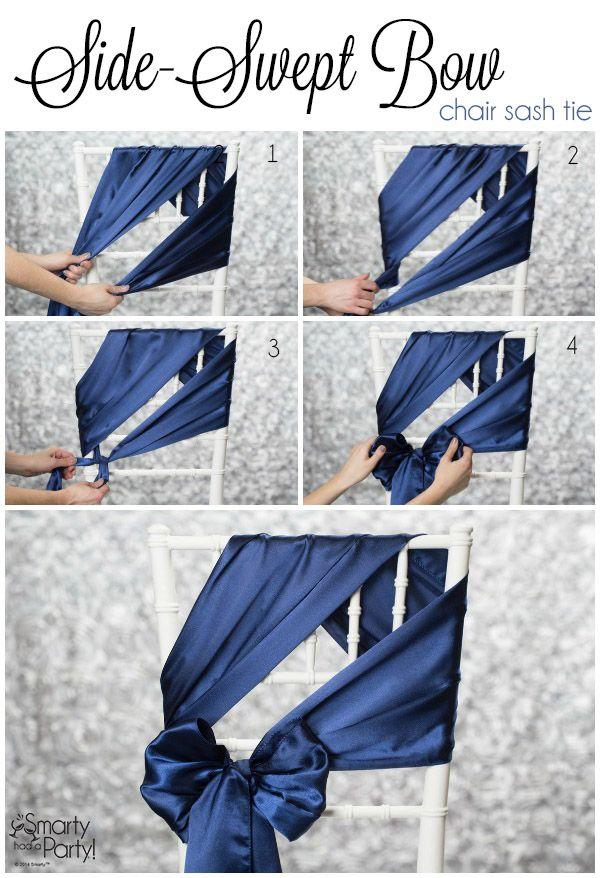 Wedding - 20 Creative DIY Wedding Chair Ideas With Satin Sash