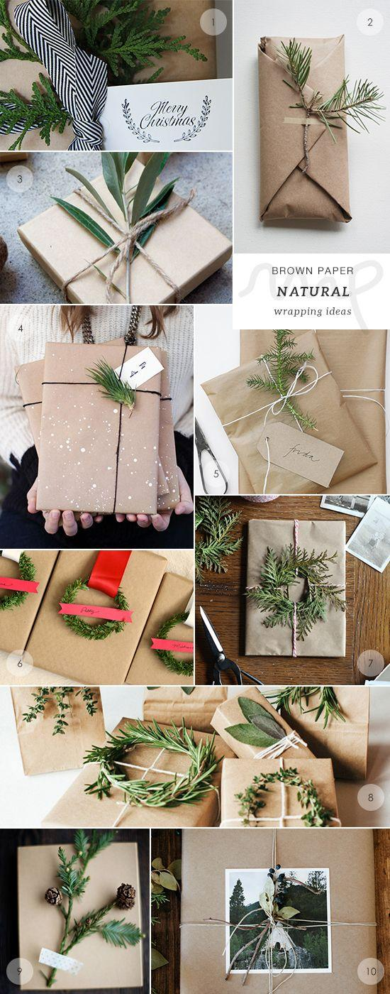 Wedding - 40 Brown Paper Gift Wrapping Ideas