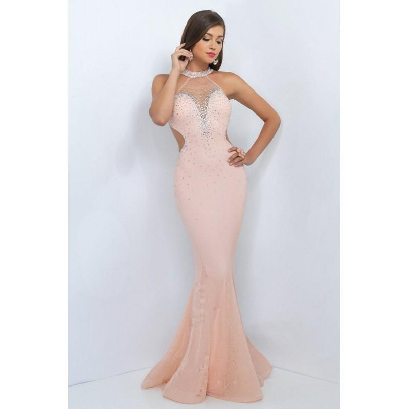 Blush 11006 Prom Dress - Prom Fitted, Mermaid Long Halter ...