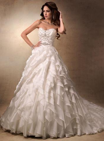 "Wedding - Maggie Sottero ""Fallon"" 19413, Ivory Size 8 Wedding Dress"
