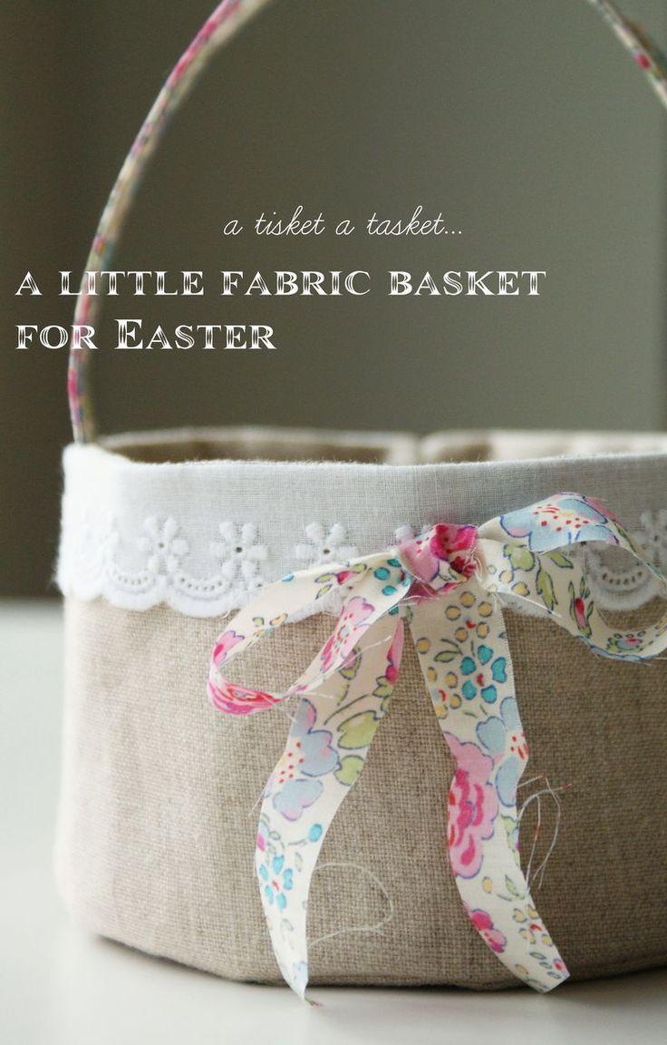 Hochzeit - Linen Easter Basket - Free Tutorial
