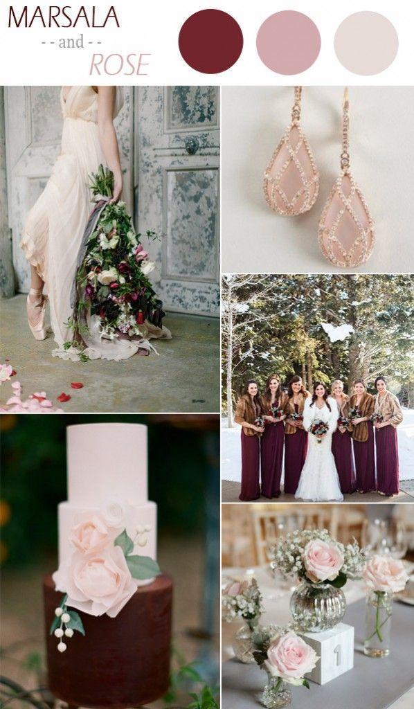 Свадьба - Marsala And Rose Winter Wedding Color Ideas 2015